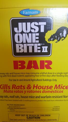 Farnam Just One Bite II Bar Rodent poison Bars - 4 pack- 4lbs