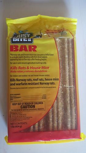 Farnam Just One Bite II Bar - Rodent poison Bar - 1 Pound Bar