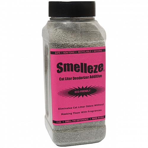 SMELLEZE Eco Cat Litter Odor Removal Additive: 50 lb. Gran. Get Stench Out Safely