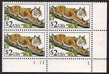 USA United States Bobcat block mnh 1991 stamps