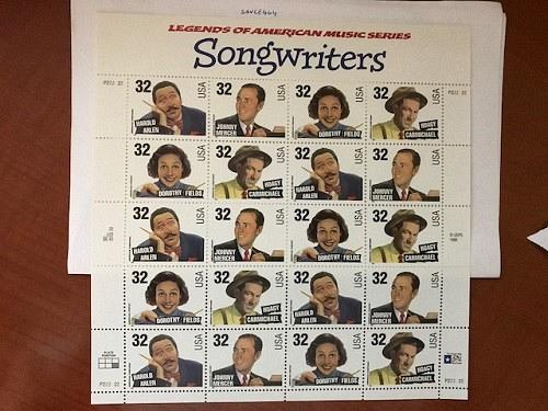 USA United States Songwriters sheet mnh 1996 stamps