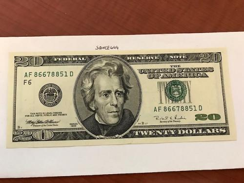 USA United States $20.00 banknote uncirculated Year 1996 #3
