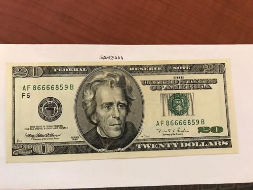 USA United States $20.00 banknote uncirculated Year 1996 #7
