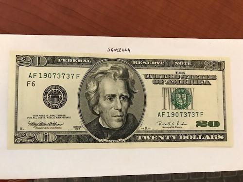 USA United States $20.00 banknote uncirculated Year 1996 #8