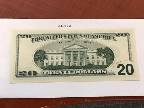 United States Jackson $20 uncirc. banknote 1996 #8
