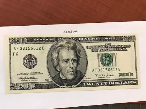 USA United States $20.00 banknote uncirculated Year 1996 #10