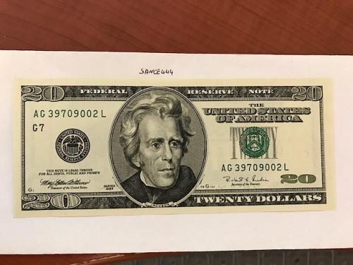 USA United States $20.00 banknote uncirculated Year 1996 #11