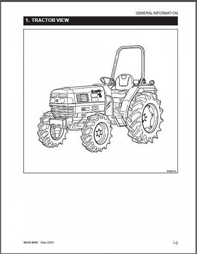 Kioti DK35 DK40 Tractor Repair Service Workshop Manual CD -- DK 35 40