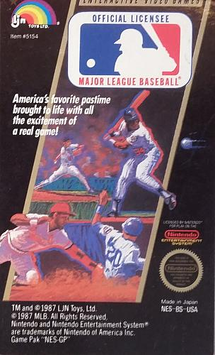 Major League Baseball (Nintendo Entertainment System, 1988) AUTHENTIC Video Game