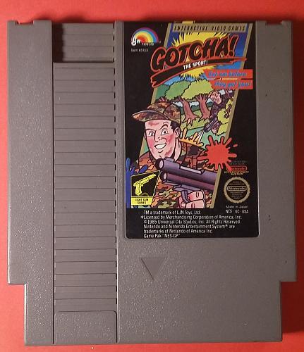 GOTCHA (1985) - Nintendo Entertainment System (NES) - AUTHENTIC Video Game