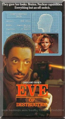 VHS - Eve Of Destruction (1991) *Renee Soutendlik / Gregory Hines / Rare Sci-Fi*