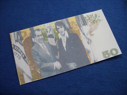 50 dollars ELVIE PRESLEY,rock legends serie/laminated