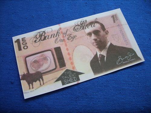 1 ego fantasy banknotes/laminated