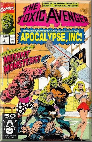 The Toxic Avenger #2 (1991) *Copper Age / Marvel Comics / Melvin Junko*