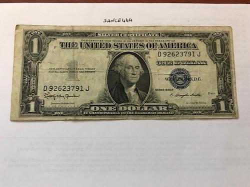 United States Lincoln $1 circulated banknote 1935