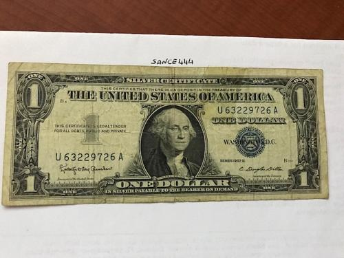 USA United States $1.00 banknote 1957 #12