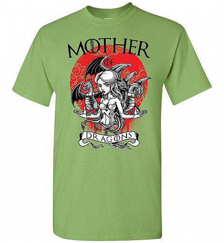 Mother of Dragons Unisex T-Shirt Pop Culture Graphic Tee (3XL/Kiwi) Humor Funny Nerdy