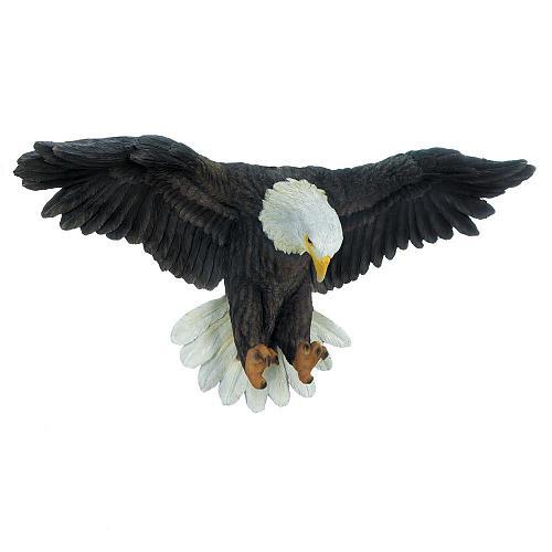 *18448U - Soaring Bald Eagle Figure Wall Plaque Decoration