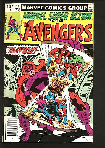 MARVEL SUPER ACTION The Avengers #17 Comics 1980 Thomas Heck Roth Fine