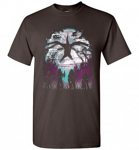 There's Something Strange Unisex T-Shirt Pop Culture Graphic Tee (M/Dark Chocolate) H
