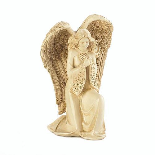 *17928U - Ivory-Color Kneeling Angel Figurine