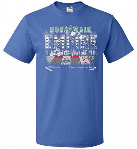 Boardwalk Empire Unisex T-Shirt Pop Culture Graphic Tee (4XL/Royal) Humor Funny Nerdy