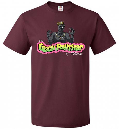 Fresh Panther Unisex T-Shirt Pop Culture Graphic Tee (3XL/Maroon) Humor Funny Nerdy G