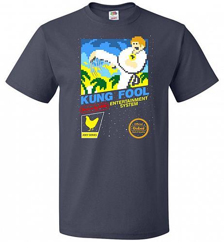 Kung Fool Nintendo Cover Parody Adult Unisex T-Shirt Pop Culture Graphic Tee (L/J Nav