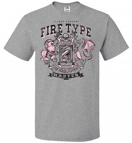 Fire Type Champ Pokemon Unisex T-Shirt Pop Culture Graphic Tee (5XL/Athletic Heather)