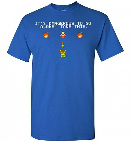It's Dangerous To Go Alone! Classic Zelda Unisex T-Shirt Pop Culture Graphic Tee (S/R