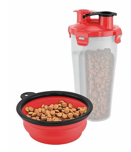 :10950U - On-The-Go Pet Water / Food Food Bottle w/Bowl