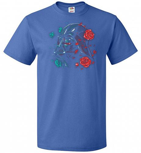 Darkside of the Bloom Unisex T-Shirt Pop Culture Graphic Tee (6XL/Royal) Humor Funny