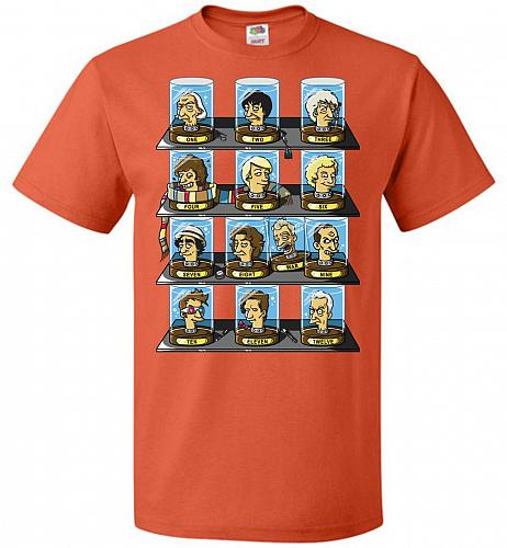 Regen_O_Rama Unisex T-Shirt Pop Culture Graphic Tee (6XL/Burnt Orange) Humor Funny Ne