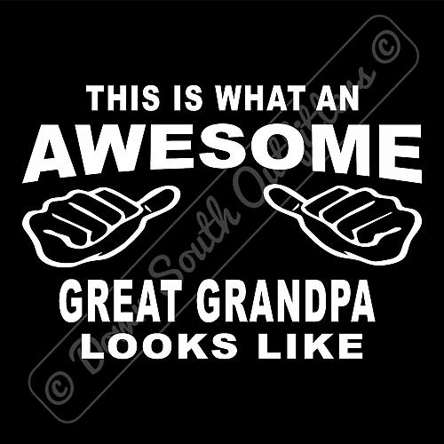 This Is What An Awesome Great Grandpa Looks Like T-shirt (16 Tee Colors)