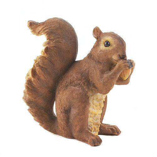 *16954U - Nibbling Bushy Tail Squirrel Garden Statue