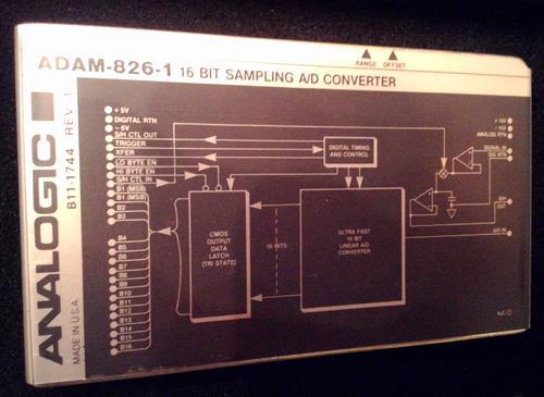 ANALOGIC ADAM-826-1 :: 16 BIT SAMPLING A/D CONVERTER