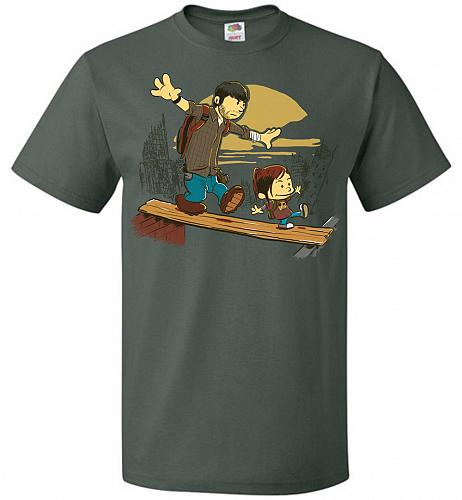 Just the 2 of Us Unisex T-Shirt Pop Culture Graphic Tee (6XL/Forest Green) Humor Funn