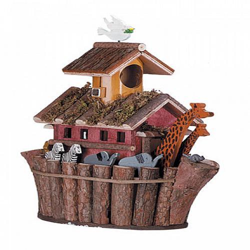 31248U - Noah's Ark Decorative Wood Birdhouse