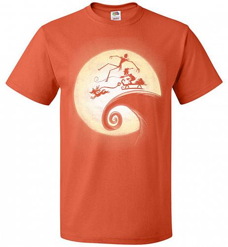 Nightmare Before Grinchmas Unisex T-Shirt Pop Culture Graphic Tee (3XL/Burnt Orange)
