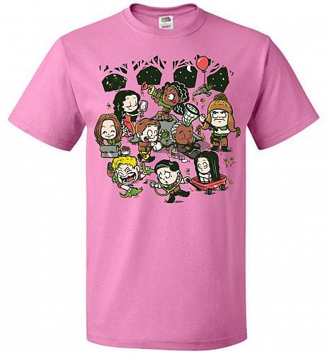 Let's Catch Fireflies Unisex T-Shirt Pop Culture Graphic Tee (XL/Azalea) Humor Funny