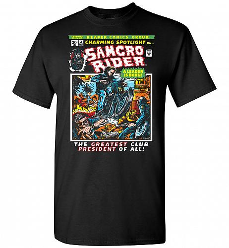 Born Leader Samcro Rider Unisex T-Shirt Pop Culture Graphic Tee (M/Black) Humor Funny