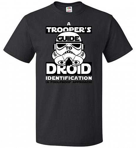 A Trooper's GuideTo Droid Identification Unisex T-Shirt Pop Culture Graphic Tee (S/Bl