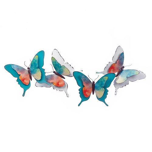 *18329U - Metal 3D Iron Watercolor Butterfly Wall Plaque Decoration