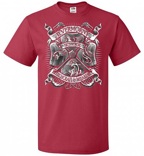 Fantastic Crest Unisex T-Shirt Pop Culture Graphic Tee (4XL/True Red) Humor Funny Ner