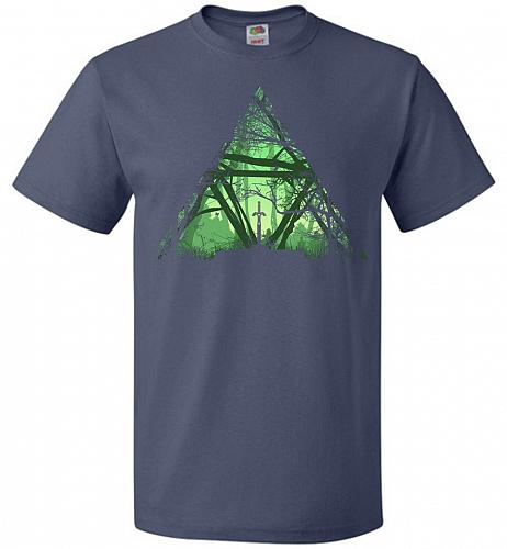 Treeforce Unisex T-Shirt Pop Culture Graphic Tee (L/Denim) Humor Funny Nerdy Geeky Sh