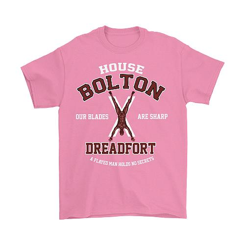 Game Of Thrones Inspired House Bolton Dreadfort Unisex T-Shirt Pop Culture Graphic Te
