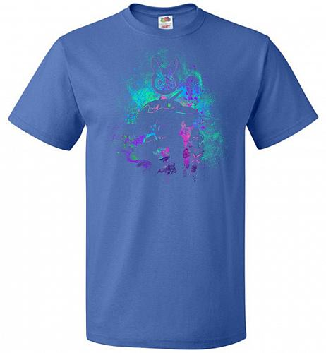 DVA Art Unisex T-Shirt Pop Culture Graphic Tee (L/Royal) Humor Funny Nerdy Geeky Shir