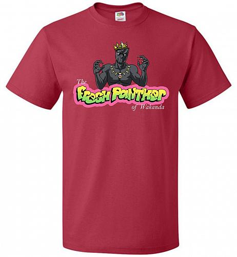 Fresh Panther Unisex T-Shirt Pop Culture Graphic Tee (XL/True Red) Humor Funny Nerdy