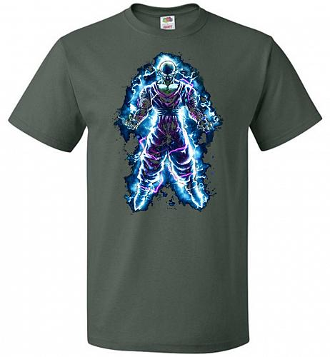 Piccolo Unisex T-Shirt Pop Culture Graphic Tee (5XL/Forest Green) Humor Funny Nerdy G