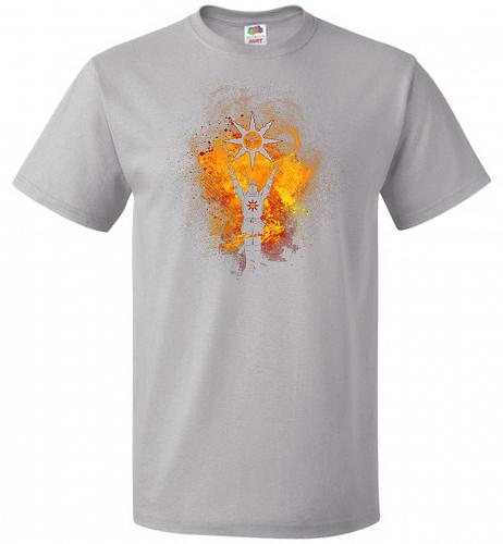 Praise The Sun Art Unisex T-Shirt Pop Culture Graphic Tee (XL/Silver) Humor Funny Ner